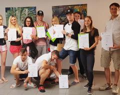 Von Juni bis Juli 2017 absolvierten 10 engagierte SchülerInnen aus Ljubljana ein dreiwöchiges Praktikum bei der ÖJAB.