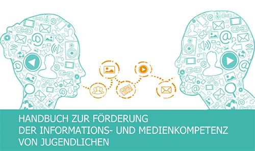 """Titelbild des Handbuchs """"Förderung der Informations-und Medienkompetenz"""""""